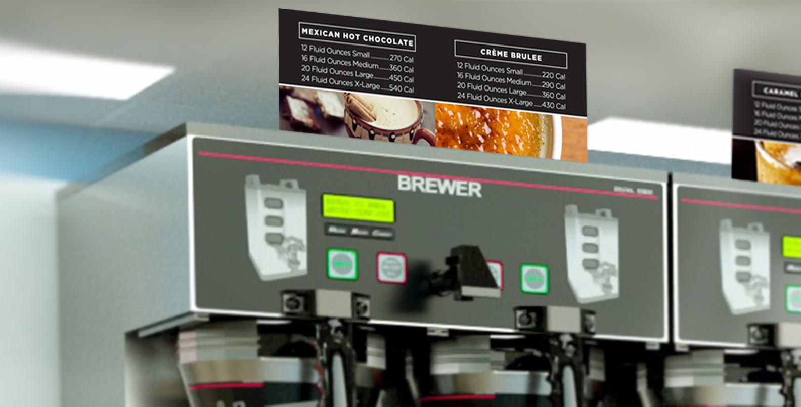 Coffee Bar Labels Close