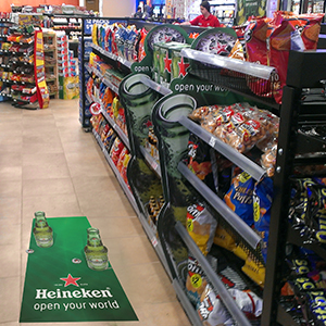 Heineken Beer Displays