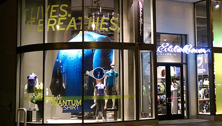 Eddie Bauer Large Window Display